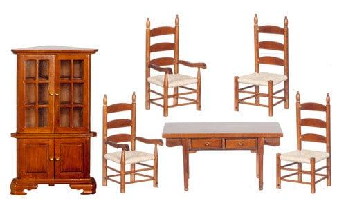 112 Scale Miniature 6 Piece Classic Walnut Dining Room  : ilfullxfull8889349983945 from www.etsystudio.com size 500 x 294 jpeg 44kB