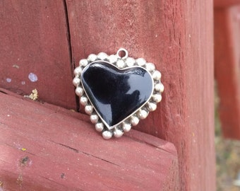 Sterling silver black onyx pendant