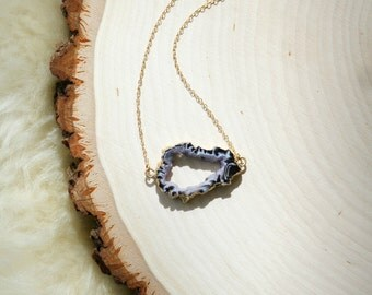 Wise Agate Druzy Necklace