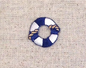 Small Life Preserver - Buoy - Nautical - Iron on Applique - Embroidered Patch - 155541A