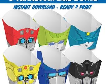 6 Popcorn Box Transformers