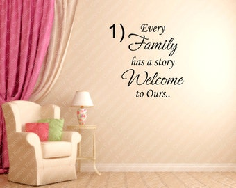 Every Family Has A Story Welcome To Ours... #2 Vinyl Wall Decal, Removable Wall DECAL,Family Quote,Custom Vinyl Wall Decal