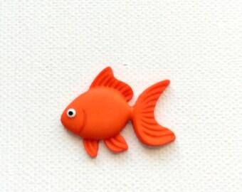 Goldfish Pin, Gold Fish Tie Tack, Orange Goldfish Pin, Orange Goldfish Tie Tack, Orange Koi Fish Pin, Goldfish Lapel Pin, Goldfish Pin