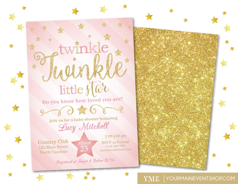 Twinkle Twinkle Little Star Baby Shower Invitations – gangcraft.net