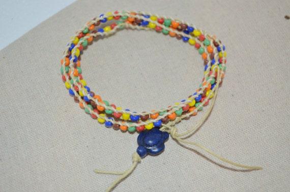 Ankle Bracelet Turtle, Colorful Sea Turtle Anklet, Wrap Turtle Anklet, Rainbow Turtle Anklet, Turtle Anklet, Sea Turtle Anklet, Wrap Anklet