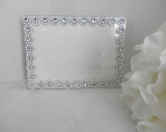 Picture frame, 7x5 silver wedding picture frame,Wedding decor, Bling picture frame, Wedding decorations, Table number frame