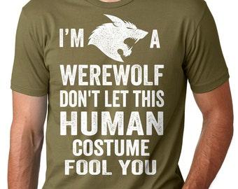 Warewolf T-Shirt Halloween Party Costume T-Shirt Halloween Gift Tee Shirt