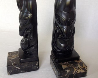 Totem Pole Bookends