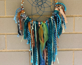 Handmade Dreamcatcher - Teal, Green, Brown - Urban Outfitters, Free People