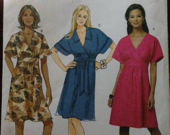 Butterick B5640 - Fast and Easy Dress with Surplice Bodice and Raised Waist - Size 14 16 18 20 22