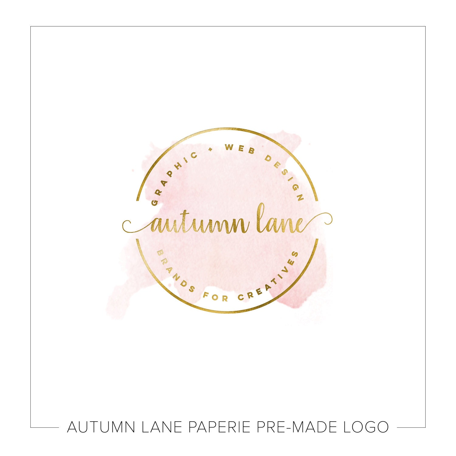 Cute Affordable Home Decor Premade Logo Design Watercolor Flower Logo Photography