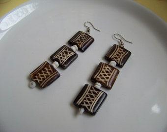 Handmade Crisscross Earrings