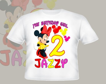 Minnie Mouse Clubhouse Birthday Shirt Personalized Shirt Youth Toddler Infant Adult  p207