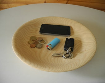 Coin tray in turned wood