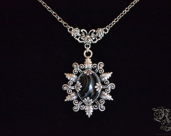 """Necklace """"Elsynia"""" - Black Agate"""