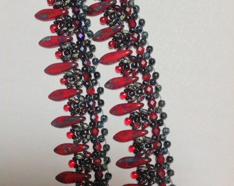 Red Daggers Necklace