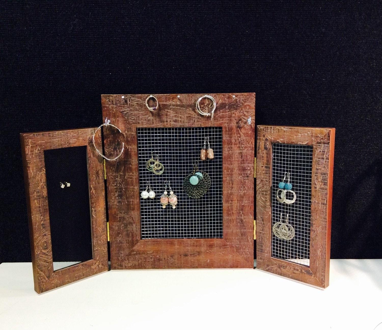 Custom Jewelry Display Frame: Jewelry Organizer Frame Earring Display Earring Stand