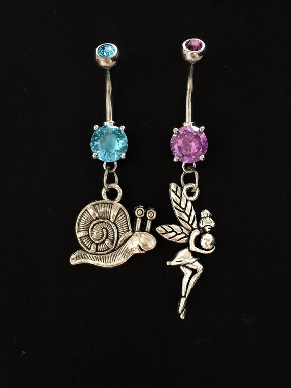 Fairy tale belly ring set Belly button rings by SwannJewels