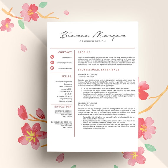 Resume Template And Cover Letter Template By Qualityresume