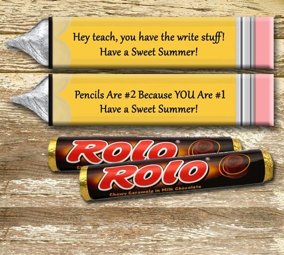 Rolo Candy Wrapper Teacher Appreciation Gift Teacher Candy