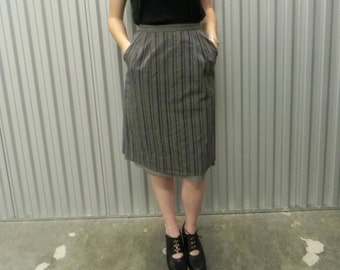 Patty Woodard Tri-Color Grey A Line Skirt