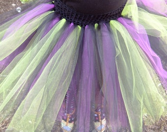 Black, Green, Purple Tutu Skirt ~ Ready To Ship!