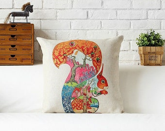 Squirrel throw pillow case pillow cover