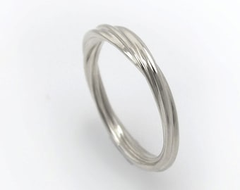 Rope Wedding Band, Twisted Wedding Band, Twist Ring, White Gold Twist Ring, Twisted Ring, Twisted Band, Twisted Wedding Ring