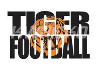Tiger Football Knockout Font SVG, DXF, SCAL, Cricut, Silhouette, Graphtec Cutting File