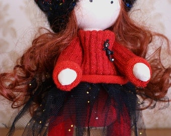 Gretta - Handmade Collection Cloth Dolls - Art Doll - Home Decoration 28 cm