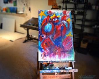 Baymax, Disney, Big Hero 6, Kids Room, 2feet by 3 feet, Painting,by Cole Brenner, Gift, Kids, Playroom Decor, Wall Artwork, Colorado