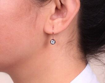Cubic Zirconia Earrings / Wedding Earrings / 925 Sterling Silver Rose Gold