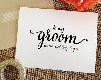 Wedding Card for Groom from Bride Gift to Groom card for Groom on wedding day gift to groom on Wedding Day Cards to Groom card