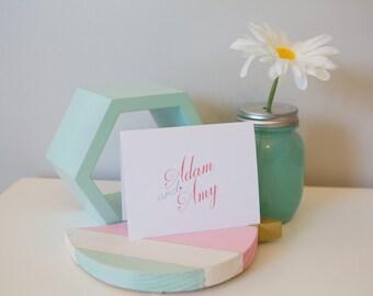 Sweet Heart Couple Notecard Set - Couple Stationery - Personalized Stationery Set - Bridal Shower Gift - Wedding Gift - Wedding Stationery