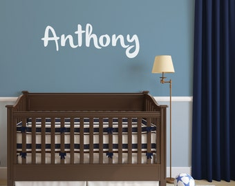 Name Wall Decal Boy, Multiple Colors, Name Decal, Nursery decor