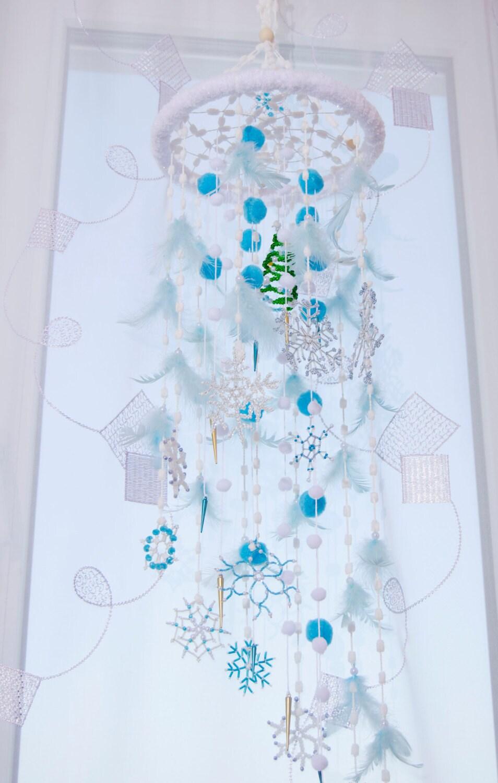 Fairy Christmas Mobile Nursery Bаbу Decor Beaded Snowflake