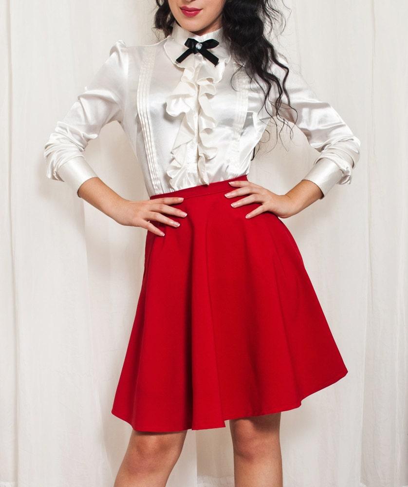 high waisted skater skirt retro circle skirt made to measure