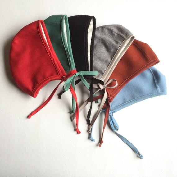 Solid color wool bonnets