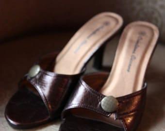 "Shoe sandal brand ""Creation Ciccone""vintage style"