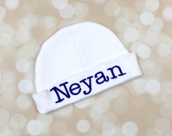 Personalized baby boy beanie - Personalized baby Boy hat - Monogrammed Baby Boy Beanie -  monogrammed baby gifts - Newborn baby boy gifts