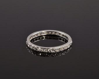 Vintage rose cut diamond eternity ring circa 1920s.
