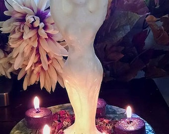 Imbolc Brigid Goddess Candle and Candle Wheel Candlemas Rites and Celebrations