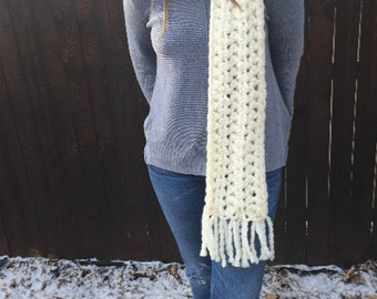 Oversized Scarf- Winter White