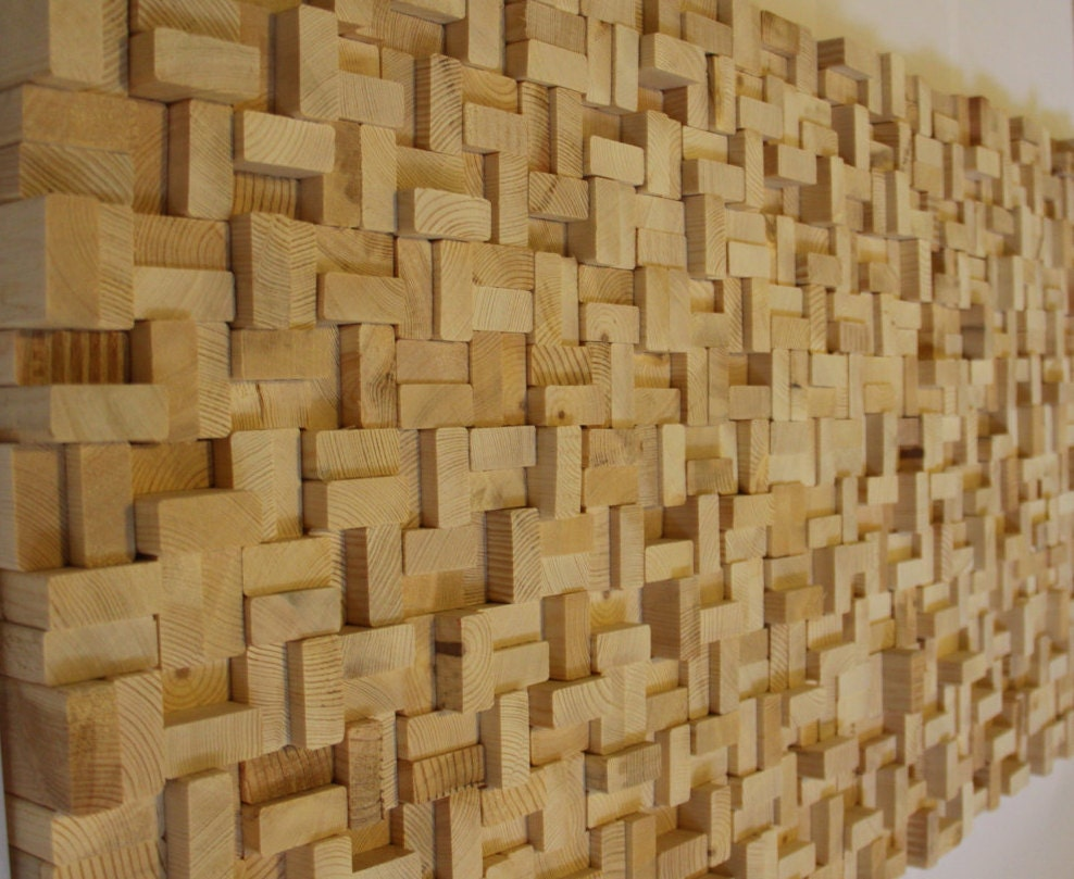 Rustic Reclaimed Wood Wall Art Wood Wall Sculpture Abstract