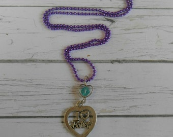 Ballet Necklace// Custom Sports Necklace// Ballet Gift// Girls Sports Necklace// Choose Sports Charm, Chain Color & Crystal