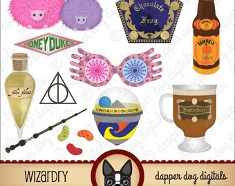 Harry Potter Clipart Pack - Commercial Use, Digital Clip Art, Digital Images