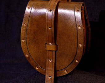 Medieval leather belt bag (+ assorted belt in options) | Sacoche de ceinture médiévale en cuir