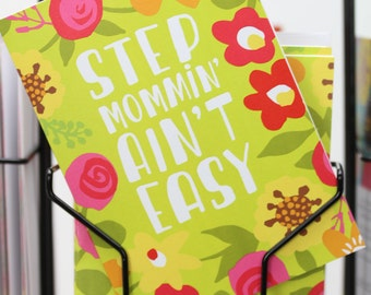 Step Mother's Day Card, Step Mom Card, Stepmother Birthday, Step mom Gifts, Step Mother Greeting Card, Stepmom Cards, Funny Step mom cards