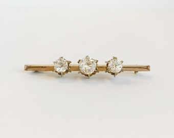 SALE: Simple, Elegant Gold Rhinestone Pin