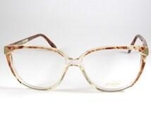 L'Amy Mod:Ariane FL, Vintage 1970s Transparent Eyeglasses, Vintage Womens Oversized Glasses, Boho-chic Oversized Frame Glasses, NOS